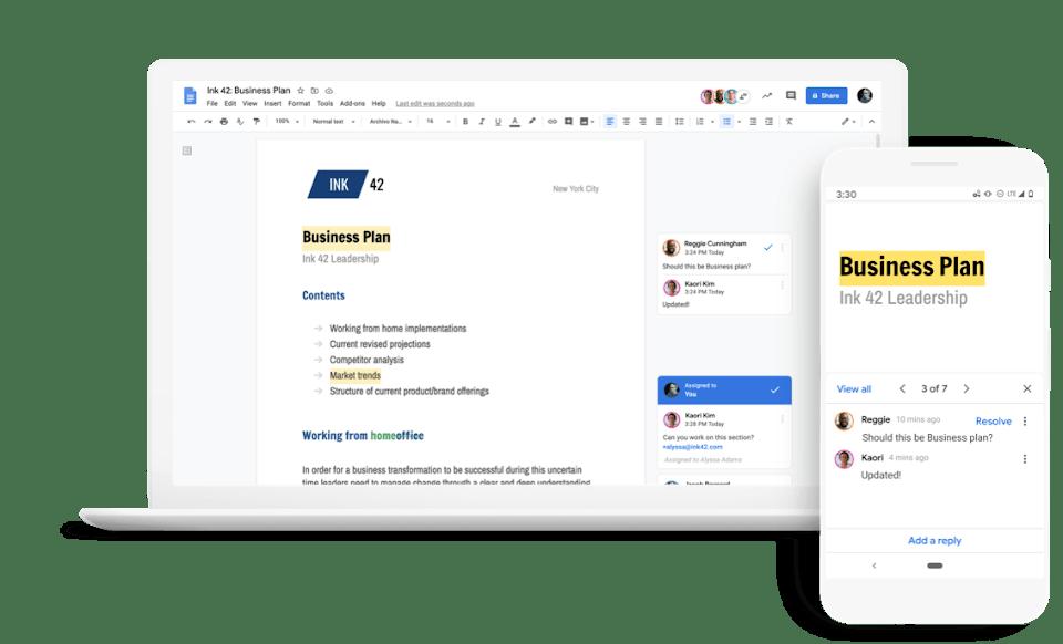 google-document-raltime